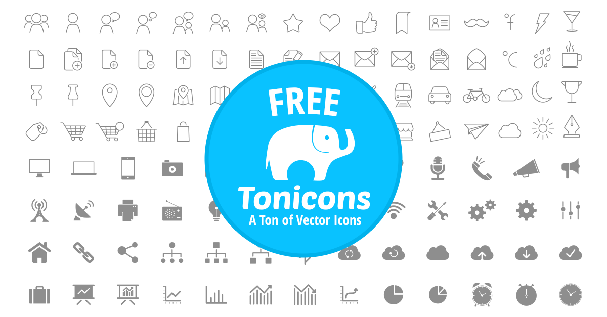 A Web Font of 600 Free Vector Icons