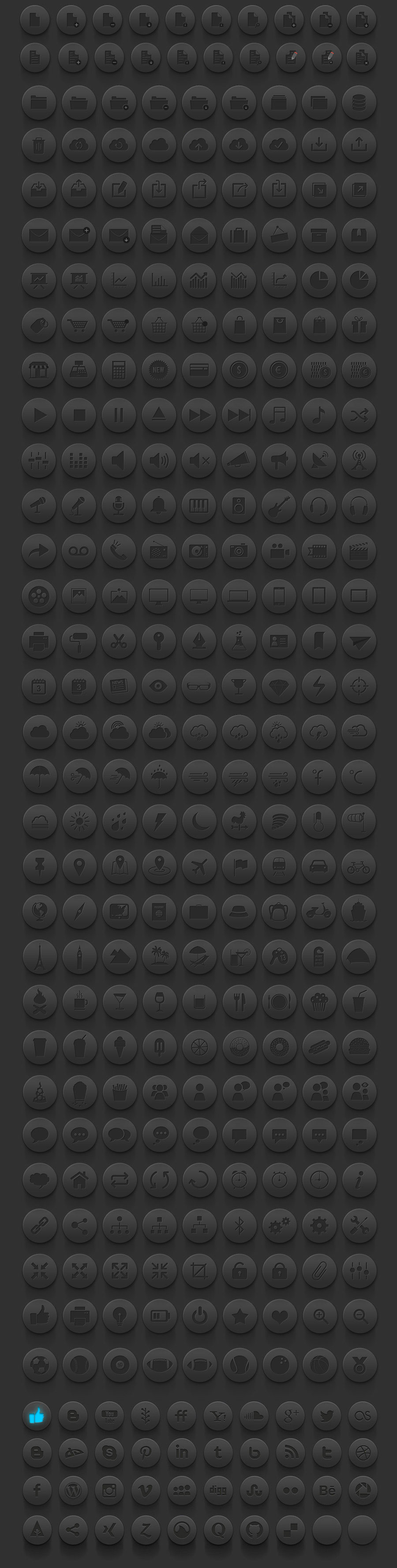 buttons-black