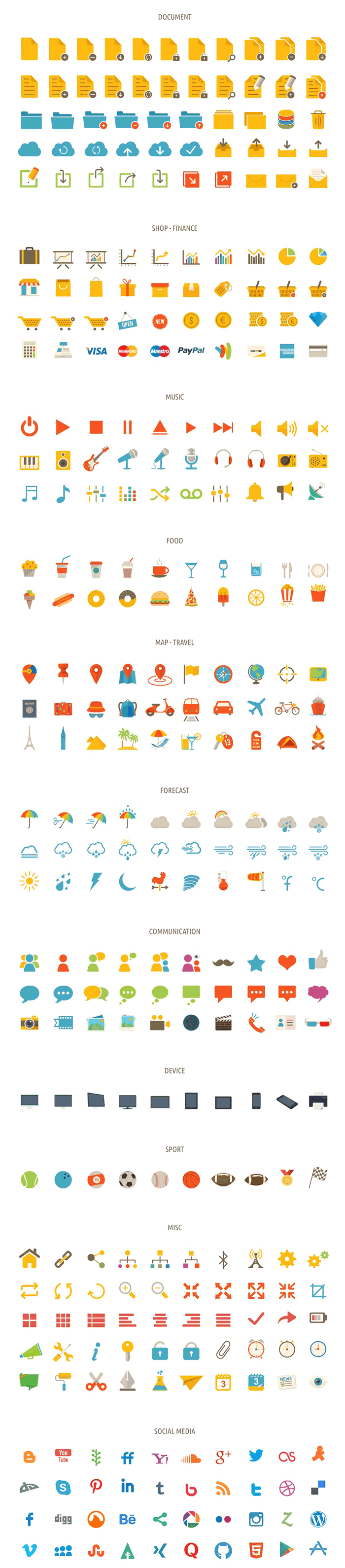 Tonicons-flat-icons
